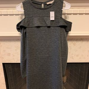 Loft cold shoulder sweater dress